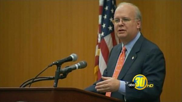 U.C. Merced welcomed Karl Rove to the campus