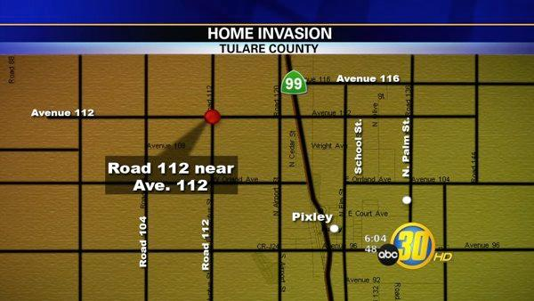 Home invasion robbery in Pixley