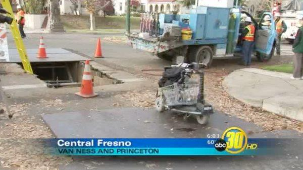 Fresno man drove scooter into trench