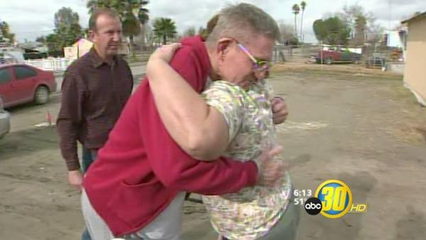 Injured Tulare County firefighter returns home