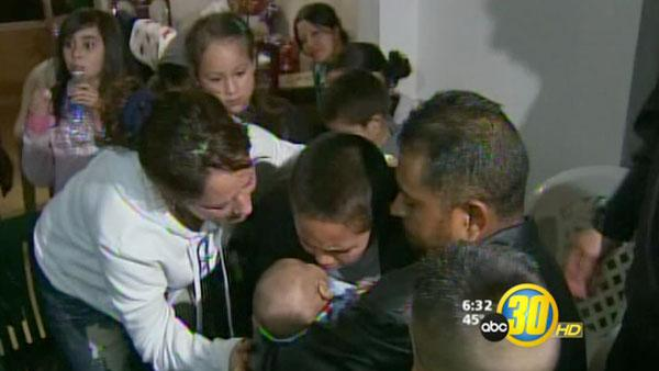 Emotional reunion with kidnapped Merced County baby boy