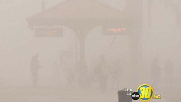 Fog causes school and flight delays