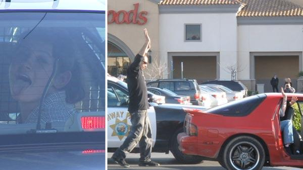 Chase ends outside Pismo's Coastal Grill in Fresno