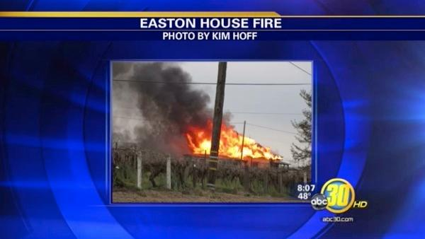 Easton home destroyed by fire