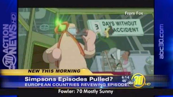 Simpsons episodes may be pulled