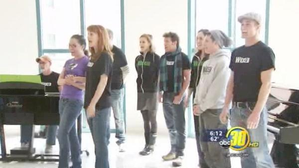 Wicked visits Children's Hospital of Central Calif.