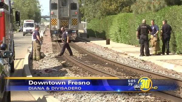 Woman run over by train in Downtown Fresno
