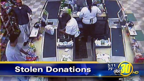 Cancer research donation jar stolen in Parlier
