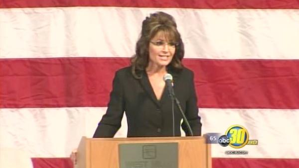 Sarah Palin speaks about water rights in Lemoore