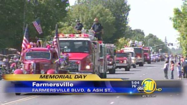 Memorial Day Parade in Farmersville