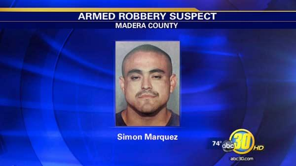 Man wanted in Madera County holdup