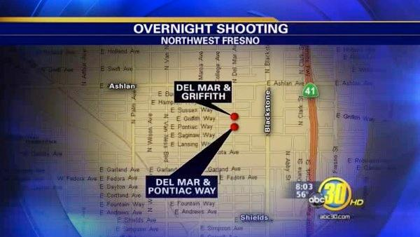 Police search for gunman who shot 2 in NW Fresno