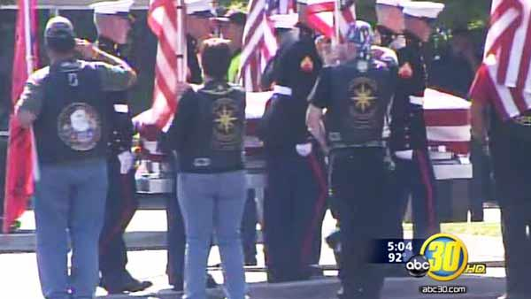 Final goodbyes for a Visalia Marine