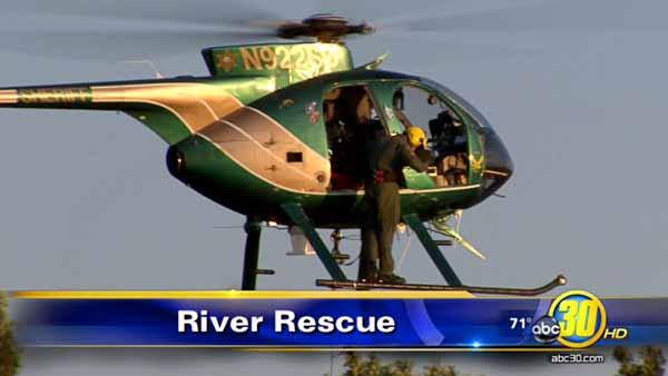 Helicopter plucks two teens from the San Joaquin River
