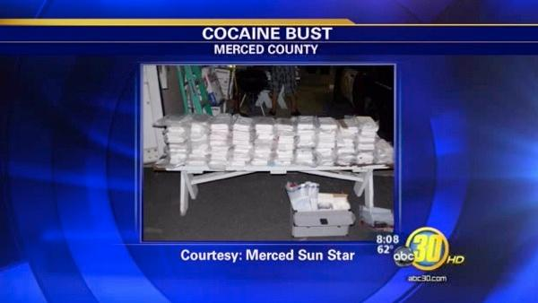 Traffic stop near Los Banos uncovers $1M worth of cocaine