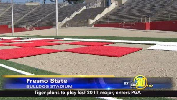 Turf Makeover at Bulldog Stadium Takes Shape