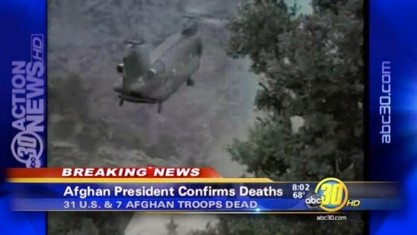 31 Americans, 7 Afghans killed in helicopter crash