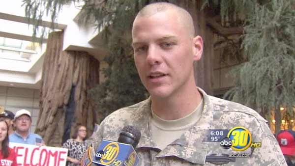 Valley soldier gets big welcome home