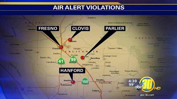 Valley's air alert has been extended
