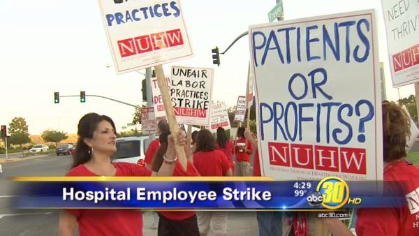 Hospital employees strike over contract negotiations