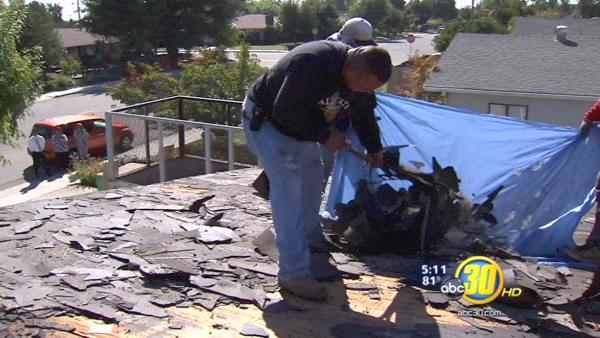 Woman in lottery mix-up getting new roof