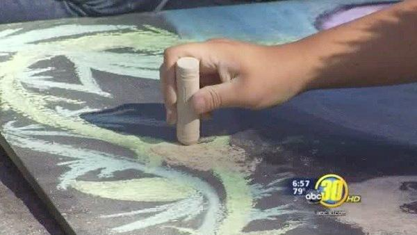 Valley students create chalk art at Big Fresno Fair