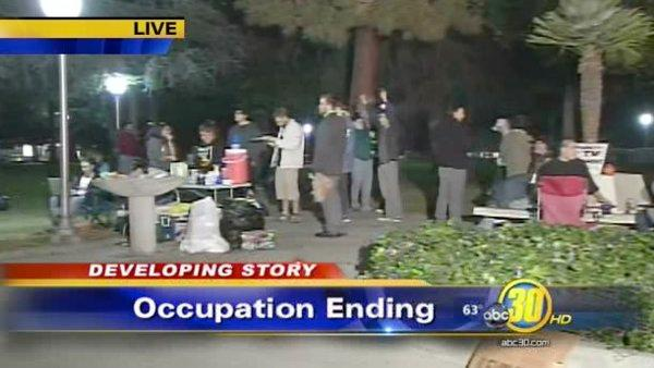 Occupy Fresno protesters face eviction from park