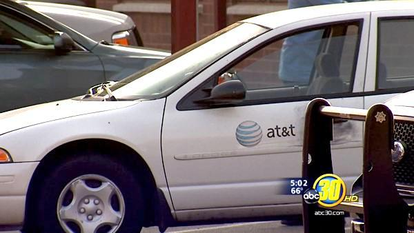 AT&T vehicle recovered from bank robbery in Clovis