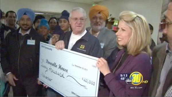 Sikh community donates a month of food to the Poverello House