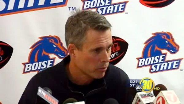 Boise Coach Petersen shows support for Hill