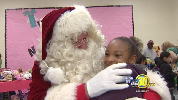 King Elementary School students get a visit from Santa