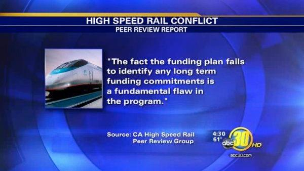 Report: High speed rail should start in SF or LA