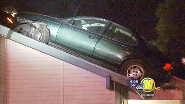 Fallout from car on roof worse than crash itself