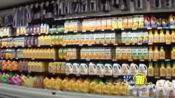 Traces of fungicide found in orange juice