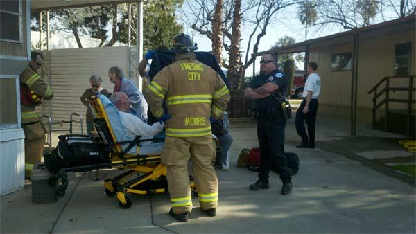 Another victim w minor burns is heading to the hospital.