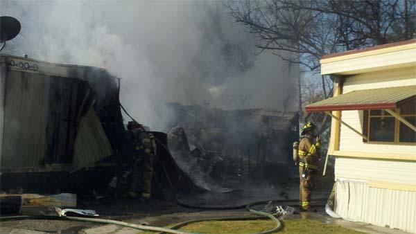 Destroyed and several victims. Fire at Sunset West Mobile Home Park