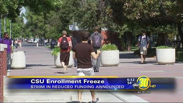 CSU enrollment freeze for spring of 2013