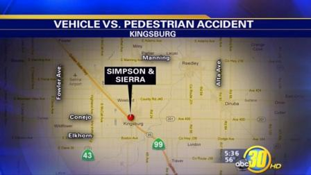 Kingsburg woman hit by a truck