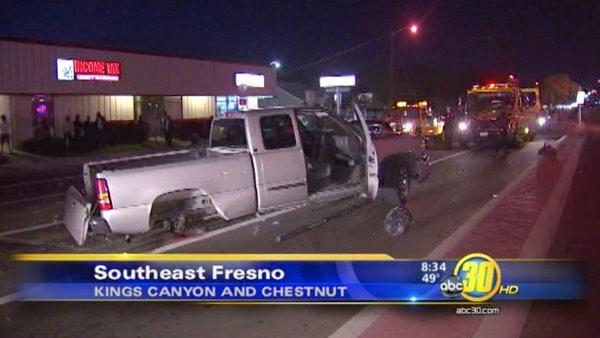 Fresno high speed chase ends in crash