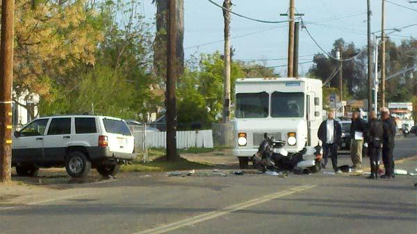 A Fresno Police Department officer was involved in an accident at Shaw and Polk Tu