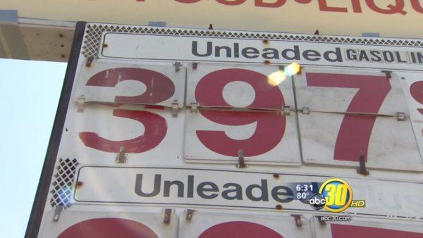 Gas stations sell gas for less than $4/gallon