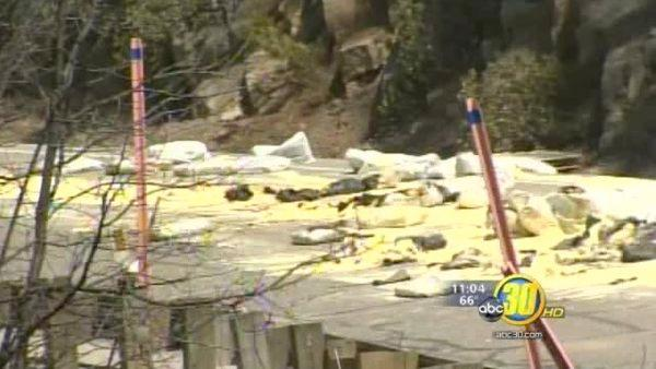 HWY 41 near Yosemite opened following sulfur spill, fires