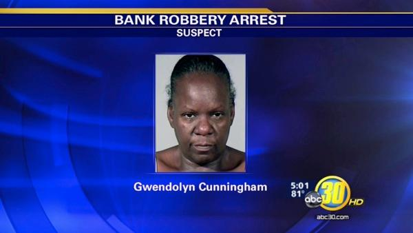 Cops say a Fresno woman robs bank to pay PG&E