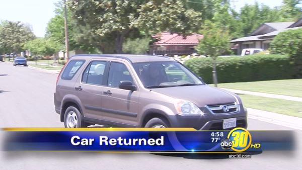 Fresno woman, 90, reunites with stolen car