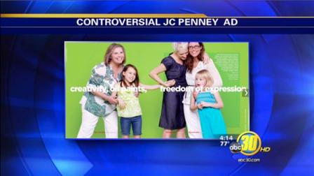 JCPenney Mothers Day ad that features a lesbian couple with their two daughters