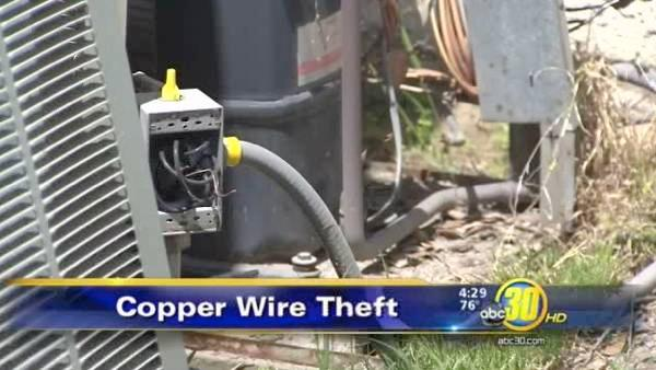 Copper wire thieves are targeting AC units