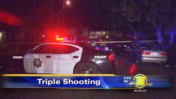 Bullet strikes Fresno woman's head in triple shooting