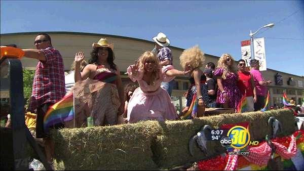 Fresno Pride Parade draws crowds to Tower District