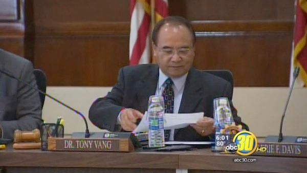 Board members ask for Vang's resignation