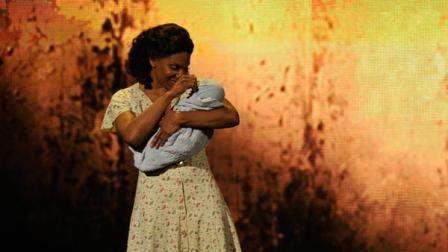 Audra McDonald performs a scene from The Gershwins Porgy and Bess at the 66th Annual Tony Awards on Sunday June 10, 2012, in New York. The production won a Tony Award for best revival of a musical.